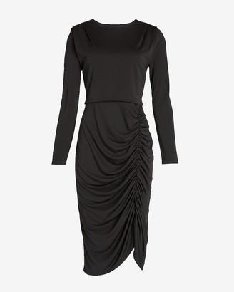 Express Ruched Long Sleeve Sheath Dress