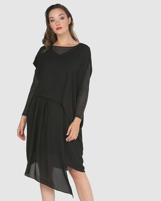 Faye Black Label Draped Front Dress