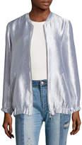 Armani Exchange Women's Metallic Bomber Jacket