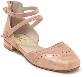 Seychelles Persona Leather & Suede Metallic Ballet Flat