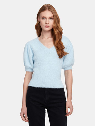 ASTR the Label Alina Fuzzy V-Neck Sweater