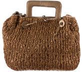 Carlos Falchi Straw Woven Handle Bag