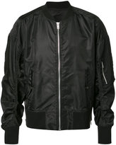 Bmuet(Te) gathered sleeves bomber jacket