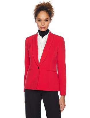 Nine West Women's 1 Button Shawl Collar Stretch Jacket