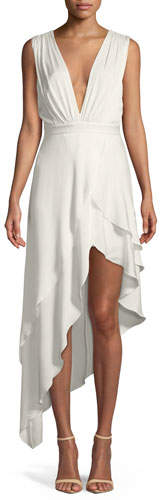 Alice + Olivia Chantay Sleeveless Asymmetric Maxi Dress