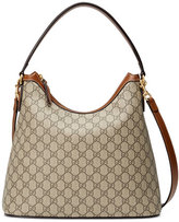 Gucci GG Supreme Medium Hobo Bag, Beige/Ebony/Cuir