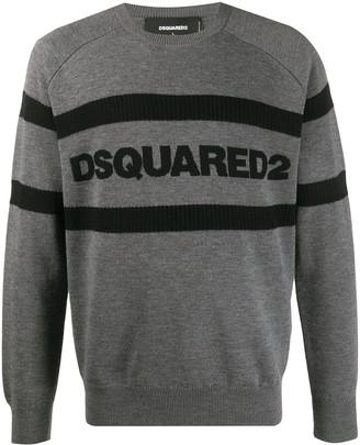 DSQUARED2 Jacquard Striped Logo Jumper