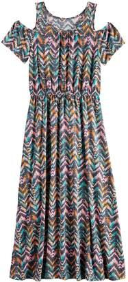 So Girls 7-16 SO Cold-Shoulder Maxi Dress