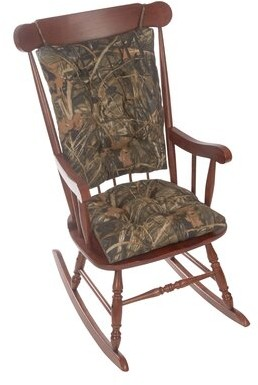 Loon Peak Gripper Realtree Jumbo Indoor/Outdoor Rocking Chair Cushion Loon Peak