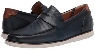 Florsheim Atlantic Moc Toe Penny Loafer (Black Smooth/White Sole) Men's Shoes