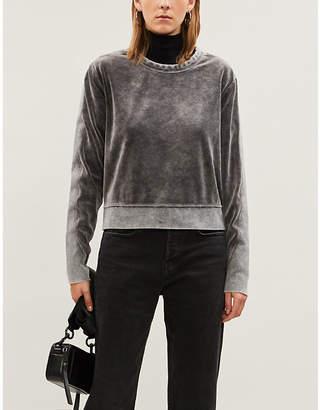 Rag & Bone Relaxed-fit velour sweatshirt
