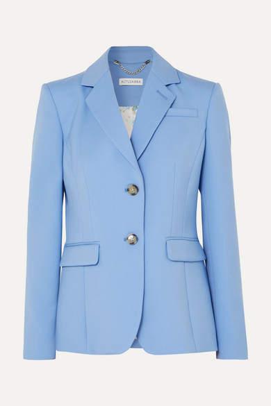 Altuzarra Fenice Wool-blend Piqué Blazer - Blue