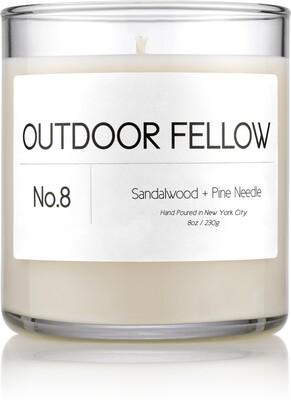 Outdoor Fellow No. 8 Sandalwood + Pine Needle Scented Candle