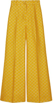 Gucci GG lame wide leg trousers
