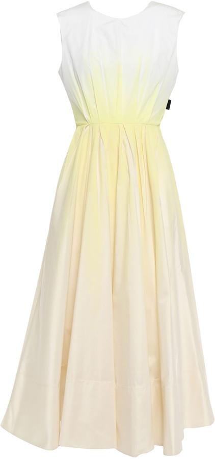Roksanda Open-back Bow-detailed Degrade Twill Midi Dress