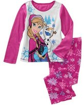 DISNEY Frozen Girls 2pc Long Sleeves Fleece Pajama Set, XS(4-5)