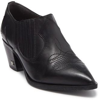 Sam Edelman Roy Leather Western Ankle Bootie