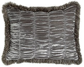 Dian Austin Couture Home Standard Venetian Glass Shirred Velvet Sham with Brush Fringe