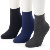 Women's SONOMA Goods for LifeTM 3-pk. Soft & Comfortable Ankle Socks