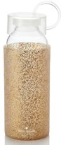 Kate Spade Gold Glitter 16-Ounce Glass Water Bottle