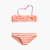 J.Crew Girls' ruffle bikini set in stripe