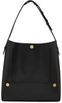 Stella McCartney Black Small Popper Hobo Bag