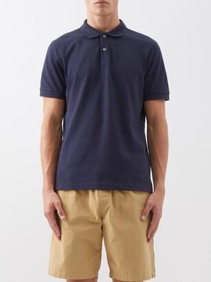 Sunspel Cotton Polo Shirt - Mens - Navy
