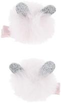 Accessorize 2x Pom Pom Bunny Ear Salon Hair Clips