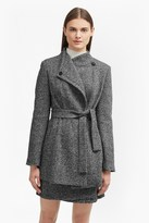 French Connection Rupert Tweed Waist Tie Jacket