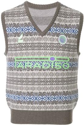Ground Zero Paradiso print vest