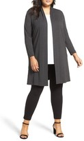 Vince Camuto Plus Size Women's Open Front Maxi Cardigan