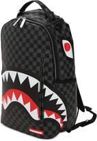 Sprayground Black Checkered Shark In Paris Backpack