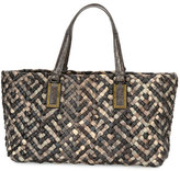 Bottega Veneta Lido Snakeskin & Lizard Tote Bag with Pouch, Red