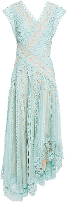 Zimmermann Moncur Studded Paneled Broderie Anglaise Cotton Dress