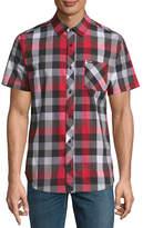 Zoo York Short Sleeve Plaid Button-Front Shirt