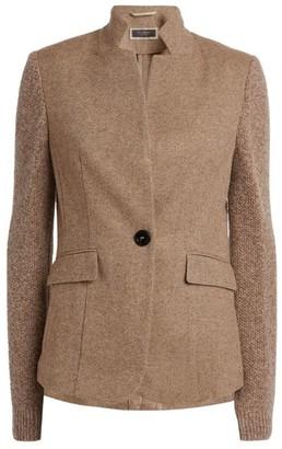 Peserico Knit-Sleeve Jacket