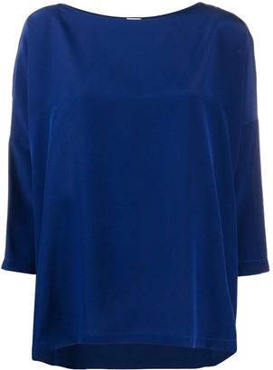 M Missoni cropped sleeve silk T-shirt