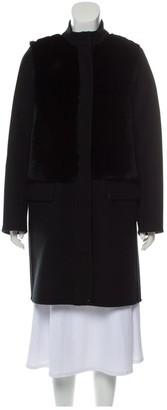 Vince Black Wool Coat for Women