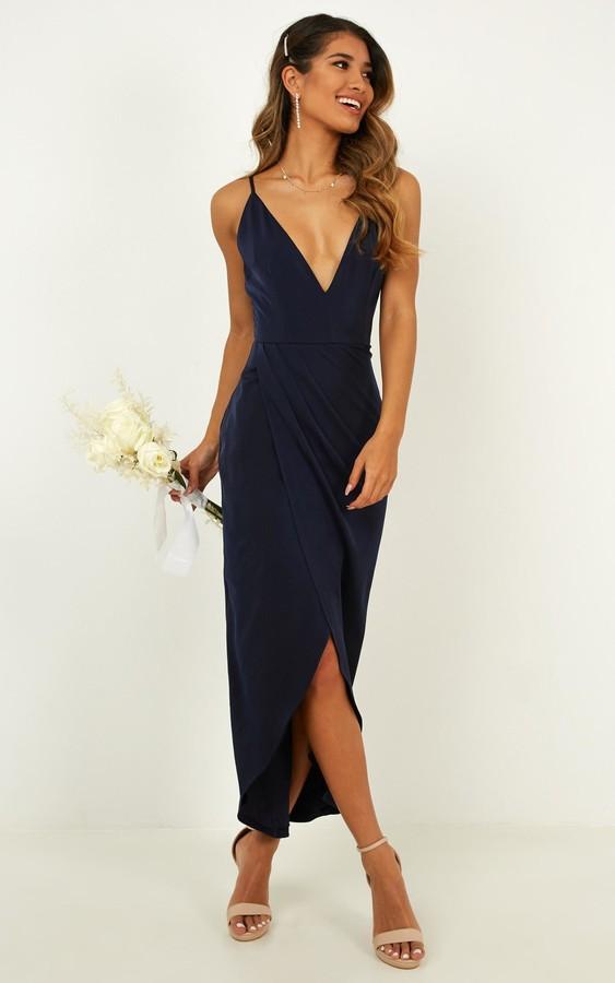 Showpo Shes a dreamer dress in navy - 4 (XXS) Bridesmaid