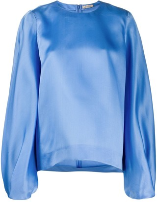 Nina Ricci Oversized Bell Sleeve Blouse