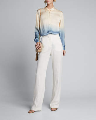 Forte Forte Dip-Dyed Satin Button-Down Shirt