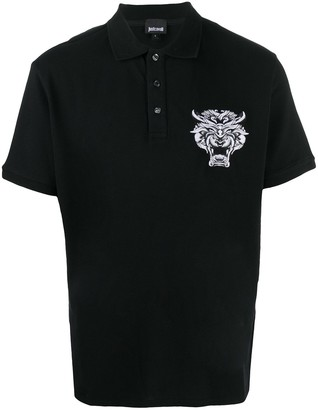 Just Cavalli Embroidered Tiger Polo Shirt