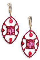 Ivy Diamond, Ruby & Two-Tone Spinel Drop Earrings