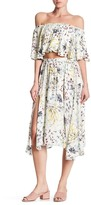 Lucca Couture Front Slit Floral Midi Skirt