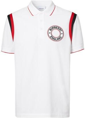 Burberry Logo Applique Polo Shirt