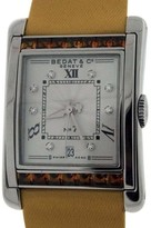Bedat & Co No.7 Stainless Steel With Orange Sapphires & Diamonds Womens Watch