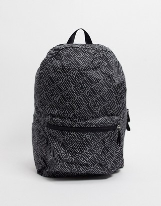 Calvin Klein logo backpack in black