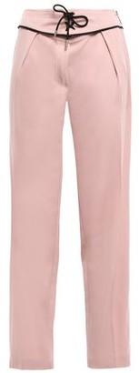 Emilio Pucci Lace-up Wool-blend Crepe Straight-leg Pants