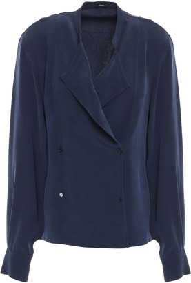 Joseph Jerry Double-breasted Washed-silk Blouse
