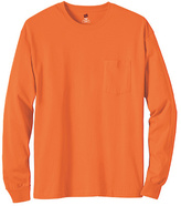 Hanes Men's Tagless 6.1 Long Sleeve With Pocket (Set of 3)